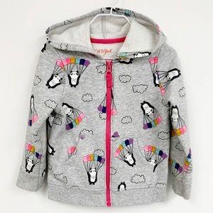 Cat & Jack Toddler Panda balloons Full zip hoodie